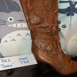 "Yoki ""Cameron"" brown leather boots"
